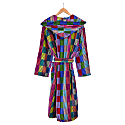 Women's Hooded Dressing Gown - Patchwork image
