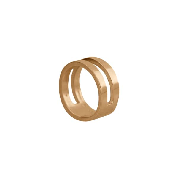 Parallel Ring in 14ct Gold