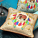 Agra Pink Silk Cushion image