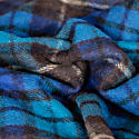 Recycled Wool Blanket In Buchanan Blue Tartan image