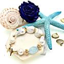 Baroque Freshwater Pearls & Aquamarine Bracelet image