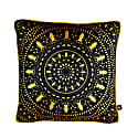 Insect Mandala Black Velvet Cushion image