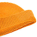 Orange Solid Wool Fisherman Beanie image
