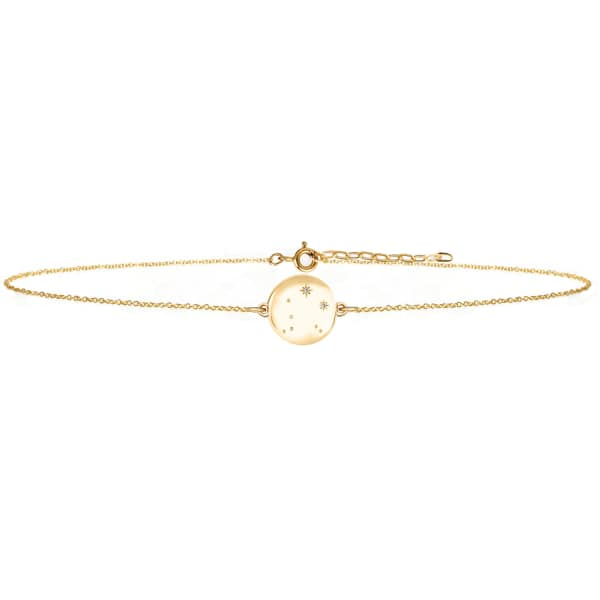 NO 13 Libra Zodiac Constellation Choker Diamonds & Gold