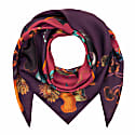Scarf in Rainbow Trout Print Wine  image