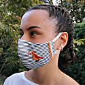 Pack Of 5-Adjustable/Triple Layer Cotton Face Masks With Nose Wire & Embroidery Details image