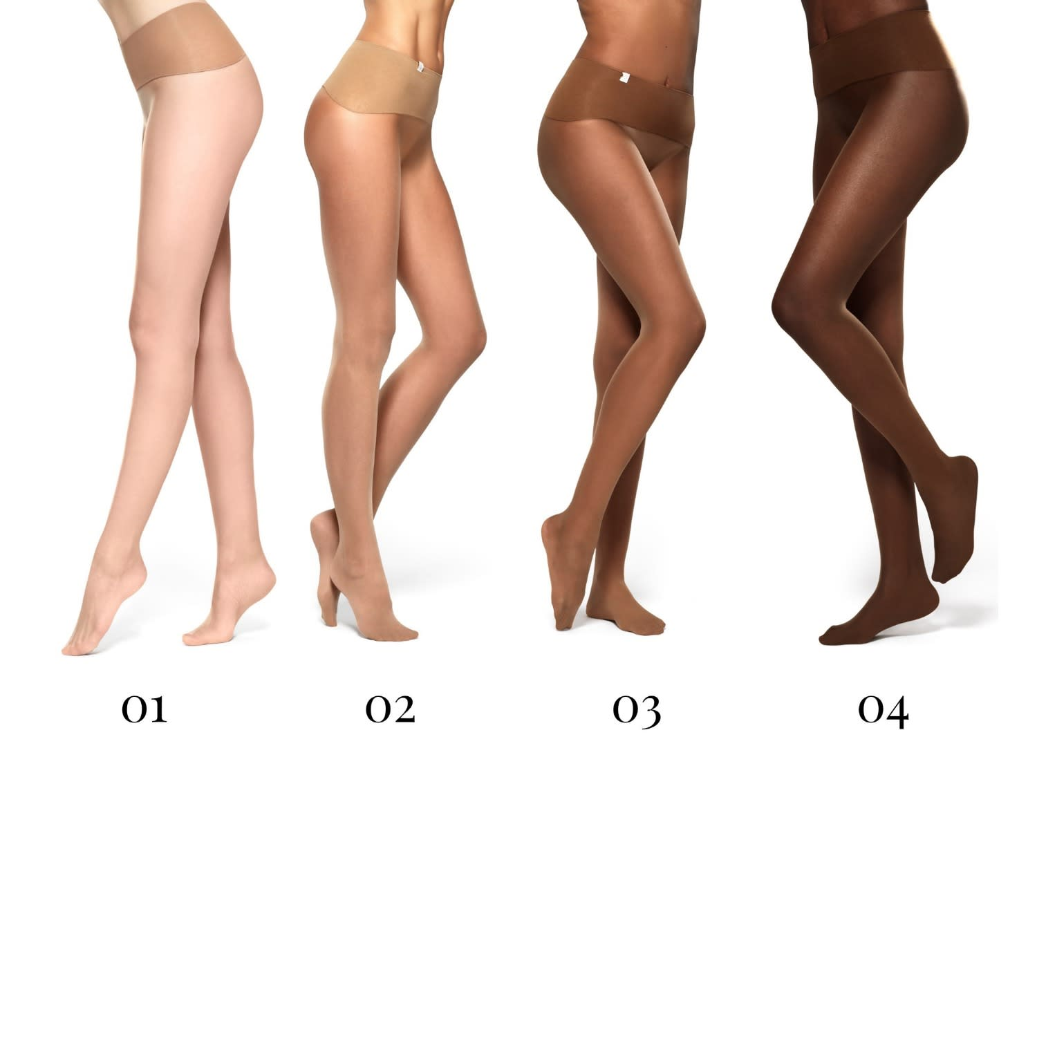 60382154a434e8 Ladder-Free Seamless Tights With High Slimming Waistband Nude 01 image