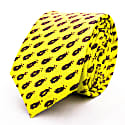 Flaming Sword - Yellow - Hand Finished Silk Tie image