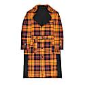 Long Orange Checked Madras Coat image