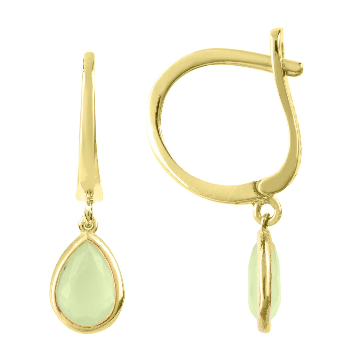 Latelita London Pisa Mini Teardrop Earrings Gold Aqua Chalcedony PAKH3jH5