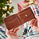 Luxe Tan Leather Wallet For Cards image