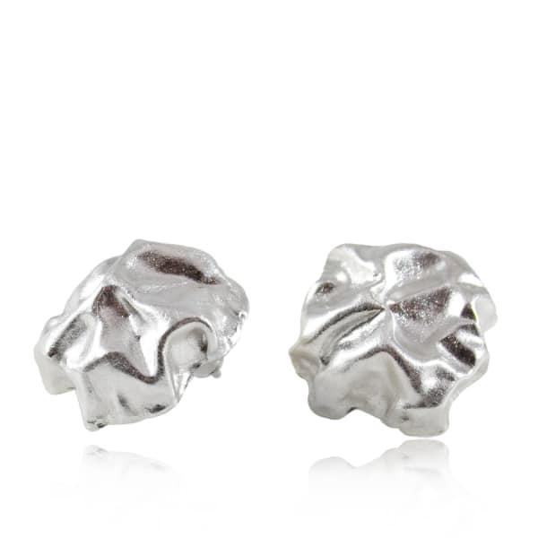 KAROLINA BIK JEWELLERY Gniot Earrings Silver