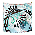 Love Square Silk Scarf Blue image