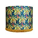 Green & Navy Palm Silk Lampshade image