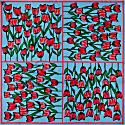 Tulip Tribe Square Scarf image