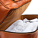 Large Buffalo Leather Raleigh Holdall Bag With Under Compartment In Tan image