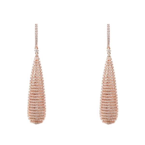 LATELITA LONDON Athena Spiral Earrings Rosegold