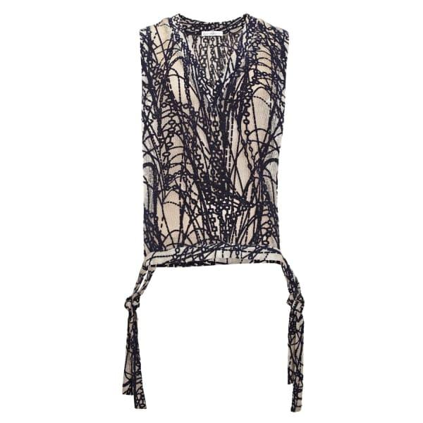JIRI KALFAR Crochet Texture Waistcoat