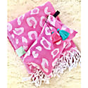 Pink Leopard Pouch With Tassels image