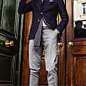 Grey 100% Wool Suit Trousers image