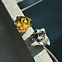 Disfigured Medius Skull Ring In Silver image