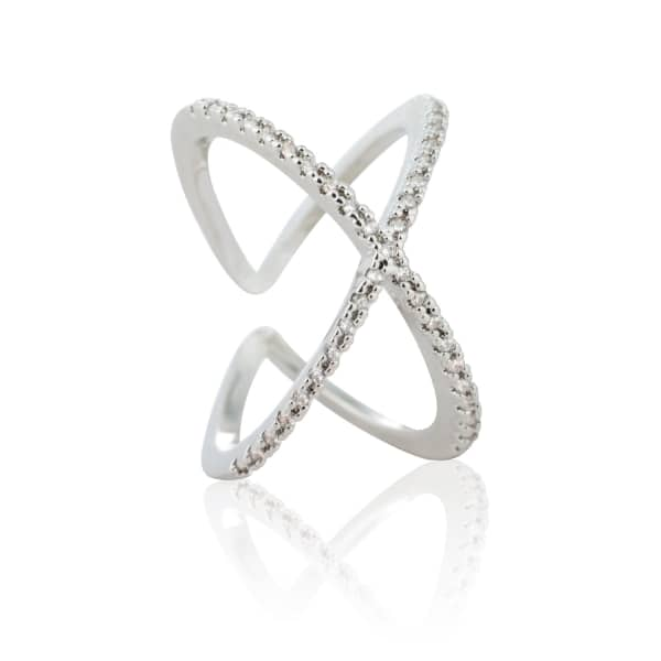 Across The World Cocktail Ring in Silver