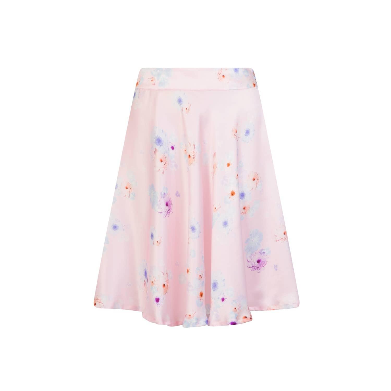 0e8f1925841 Silk Midi Skirt Pink Beach Flower image