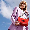 Perla Shoulder Bag Red Suede image