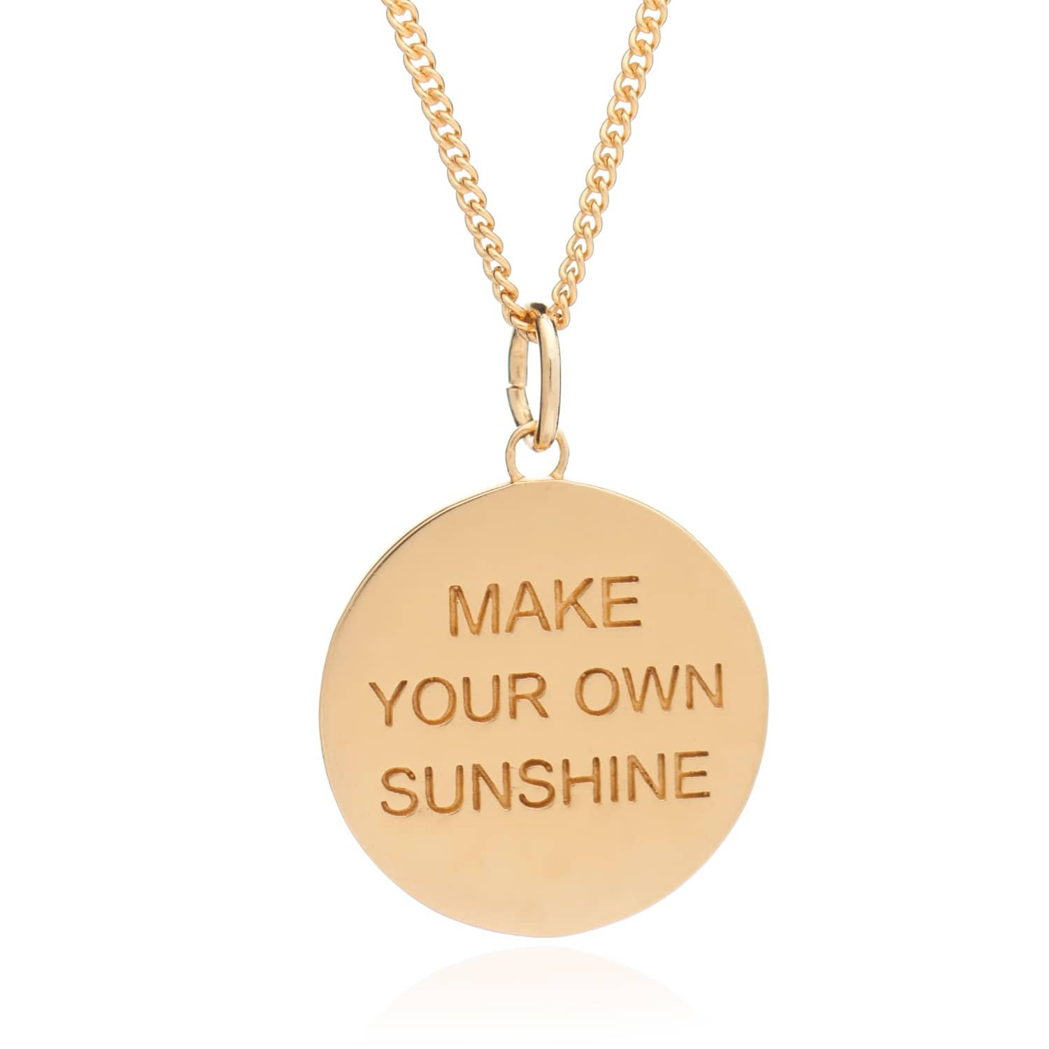 Make your own sunshine disc necklace gold rachel jackson london make your own sunshine disc necklace gold image aloadofball Gallery
