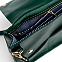 Wanderer Leather Crossbody Purse In Emerald image