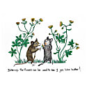 Buttercup Mice Print image