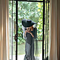 Lola Wide Brim Jute Straw Hat Black image