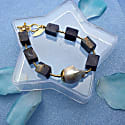 Square Lapis Lazuli With Baroque Pearl Bracelet image