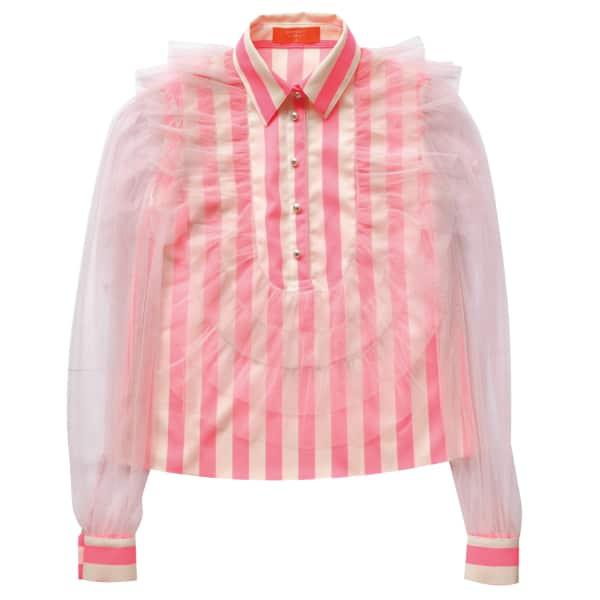 SUPERSWEET X MOUMI Hatteras Shirt Neon Stripe
