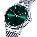 August Berg Serenity Greenhill Silver Classic - Silver Mesh 32mm image
