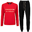 Freedom Is Gold Tracksuit Red image