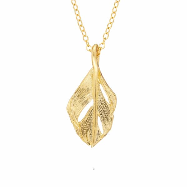 CHUPI I Can Fly Midi Swan Feather Necklace in Gold