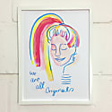 We Are All Originals Giclee Print Blue image