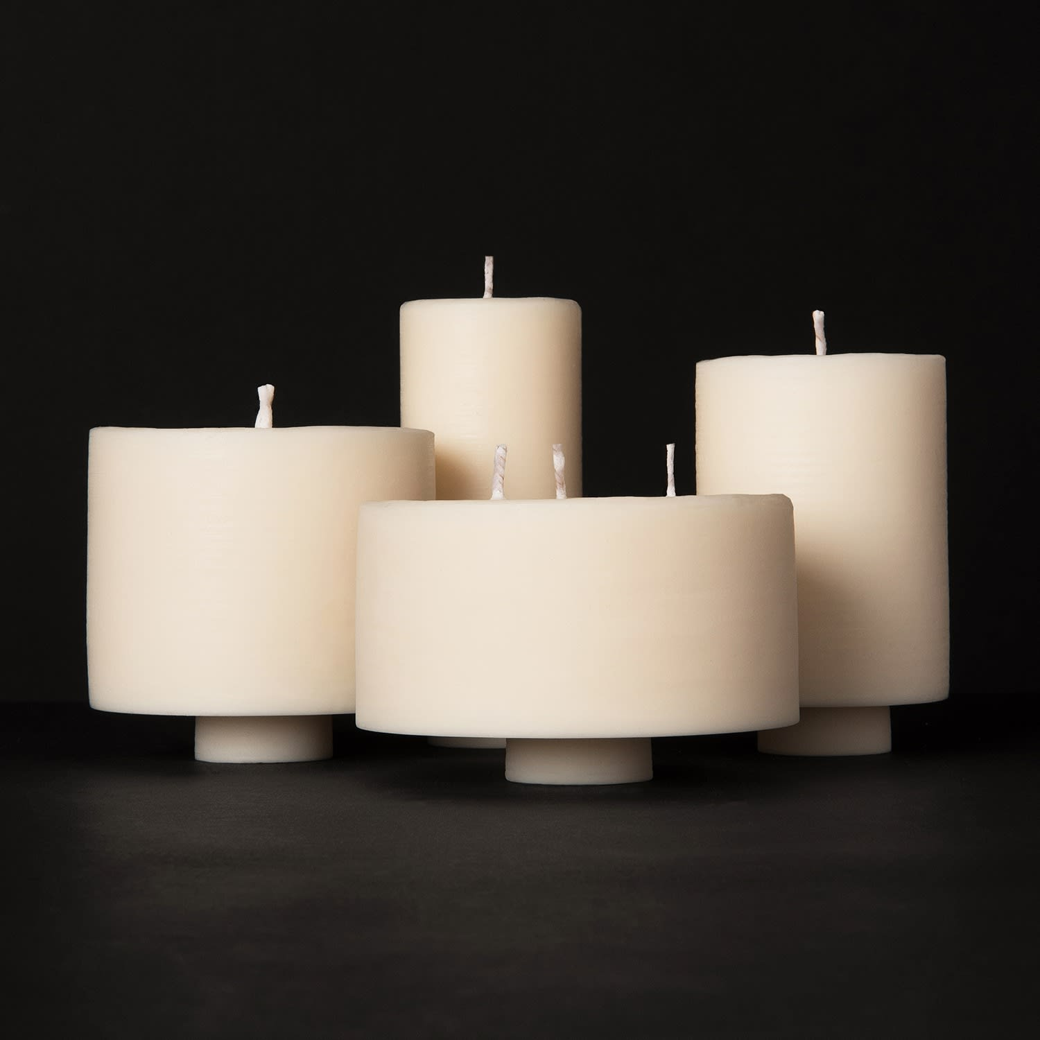 Mid Lime Basil Mandarin Soy Wax Pillar Candle Concrete Wax Wolf Badger