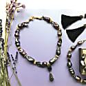 Nugget Purple Baroque Pearls & Amethyst With Pendant Necklace image