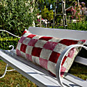 Xl Pink Chequed Lumber Cushion image