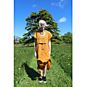 East Meets West Dress in Saffron 100% Irish Linen image
