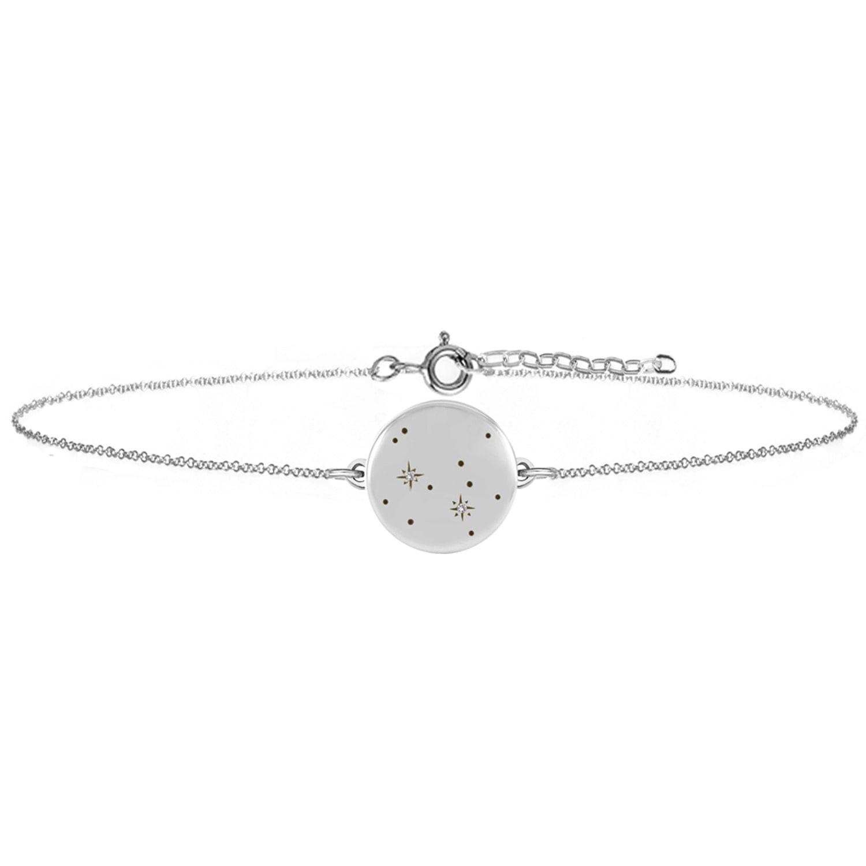 No 13 - Sagittarius Zodiac Constellation Bracelet Diamonds & Silver