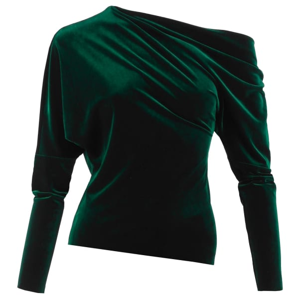 Catch A Buzz Emerald Green Velvet Top (S) by Me&Thee