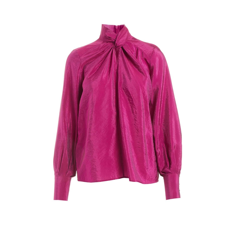 183f6ddc Benois Pink Twist Neck Blouse (M) | WtR | Wolf & Badger