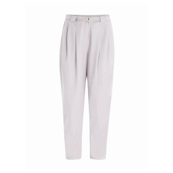 PAISIE Peg Leg Trousers With D-Ring Belt In Grey