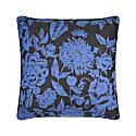Floral Black & Blue Cushion image