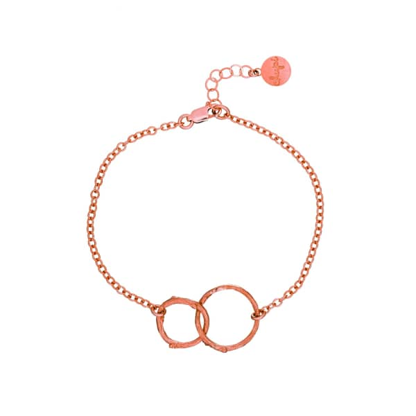 CHUPI Just The Two Of Us Hawthorn Twig Circle Bracelet in Rose Gold