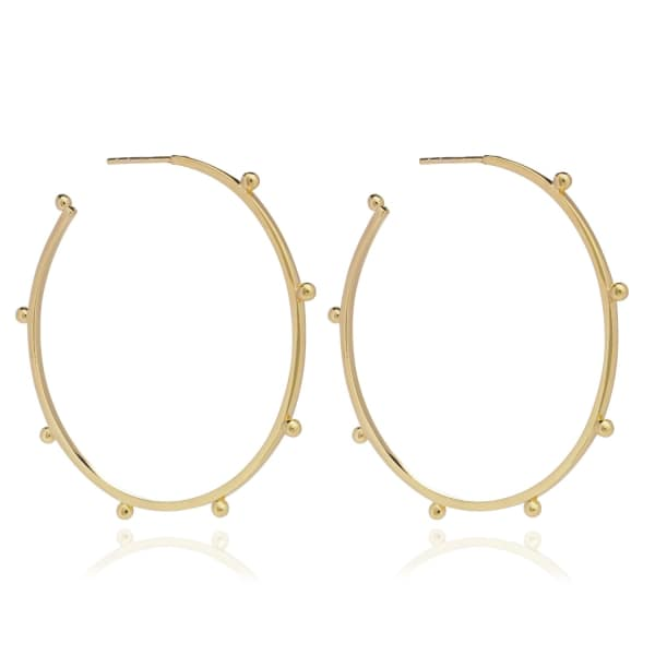 Large Punk Hoops Gold