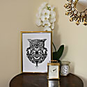 ​'The Owl & Pocket Watch' Fine Art Print A5 image